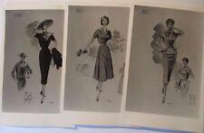 Mode, Frauen, 10 verschiedene Karten ca. 50er Jahre (3380)