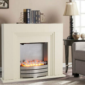 Electric Fireplace LED Flame Effect Fire Surround Suite 1000W/2000W Settings