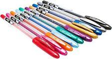 GLITTER Gel Pens 0.7 mm FINE Tip 10 colours Linc Shine Sparkled School art craft