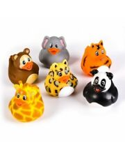 Bulk Wholesale Job Lot 72 Jungle Animal Rubber Ducks