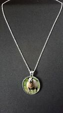 "Sheep Pendant On 18"" Silver Plated Fine Metal Chain Necklace Gift N524"