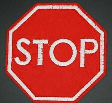 "TRAFFIC STOP SIGN  PATCH 3""X3"" ROAD SIGN STOP EMBROIDERED STOP SIGN (RWSS-21)"
