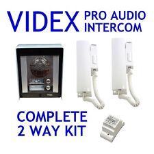 Videx Intercom Flats appartements 2 Way série 8000 Surface Audio Kit