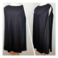 [ COS ]  Womens Black Silk detail Tunic Top | Size XS or AU 8 / US 4