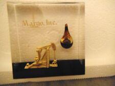 Margo Inc Lucite Paperweight Vintage Grasshopper Oil Rig Crude oil sample pump