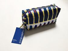 NWT Sonia Kashuk Cosmetic Makeup Organizer Bag Lipstick Yellow Blue Graphic