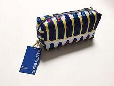 NWT Sonia Kashuk Cosmetic Makeup Organizer Bag Lipstick Yellow Blue Graphic