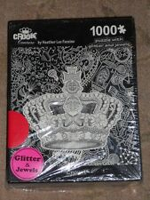 Crook Couture ~ New ~ Crown ~ 1000 pc Puzzle w/ Glitter by Heather Lee Fazzino