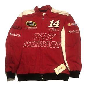 NWT Vintage Tony Stewart #14 Office Depot Mobil 1 Nascar Racing Jacket XLarge
