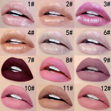 Waterproof Matte Glitter Lip Gloss Shimmer Liquid Lipstick Makeup Non-Stick NEW