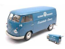 """Welly 1:18 1963 Volkswagen T1 Bus """" Porschewagen """" Blue Diecast Model Car 18053W"""