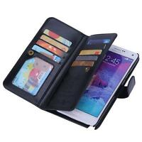 NEW LUXURY LEATHER DETACHABLE WALLET CASE COVER FOR SAMSUNG GALAXY NOTE 4 IV