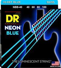 DR NBB-40 Neon Blue Bass Guitar Strings gauges 40-100