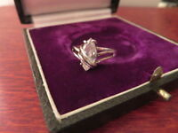 Filigraner 925 Silber Ring Designer Signiert Zirkonia Wie Diamant Lavette Modern
