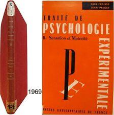 Traité psychologie expérimentale 2 Sensation et motricité 1969 Fraisse Piaget