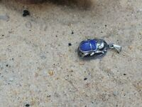 Rare Antique Ancient Egyptian Silver Hanger Scarab Good Luck life Wealth 2480 BC