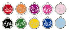 Music Enamel/Solid Stainless Steel Engraved ID Dog/Cat Tag