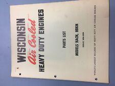 wisconsin engine manual,HACN, HBKN  illustrated parts manual