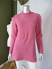 ESTEVE 42 OR US L 40% Wool, Acrylic/Nylon A-Frame Pink Tunic Sweater A+ Pullover