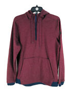 Under Armour Men's Burgundy Red Fitted Long Sleeve Hooded Sweatshirt Size Small