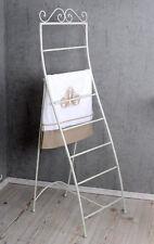 Handtuchleiter Weiss Handtuchständer Shabby Metallständer Standhandtuchhalter