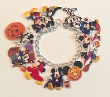 Mickey Mouse Disney Halloween Handmade Bracelet Plastic Charms Minnie Goofy Cute
