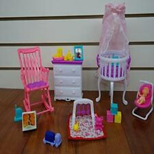 Barbie Size Dollhouse Furniture- Gloria Baby Home Nursery Set New Gift