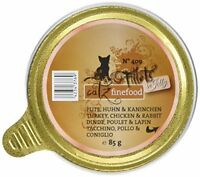 Catz finefood Fillets Number 409Turkey, Chicken  Rabbit in Jelly Pack of 12