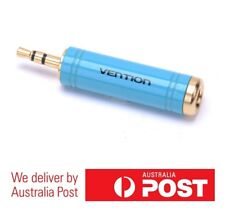 Vention 6.5mm Female to 3.5mm Male Adapter Blue - 24K Thick Gold Plated