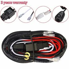 10ft 40A 12V Switch Relay Wiring Harness Kit for LED Work Light Bar 2 Lamps 100W