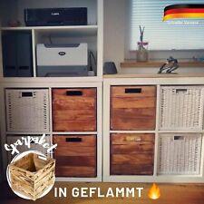 Geflammter Regaleinsatz für Kallax Holzkisten Einschub Aufbewahrungsbox Holz DIY
