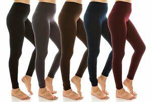 Junior & Plus Banded High Waist Fleece Lined Yoga Fitness Active Basic Leggings
