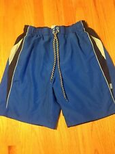 Boys Nike Blue & Black Swimming Trunks Size L Vgc