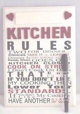 Cucina Regole personalizzati Segno Di Placca Legno Crema Rosso Nero 27cm regalo F1221A