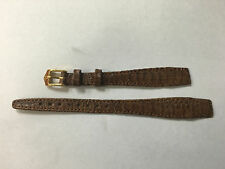 HIRSCH WATCH LEATHER BAND PHONIX 12mm BROWN STITCHED OPEN END NOS