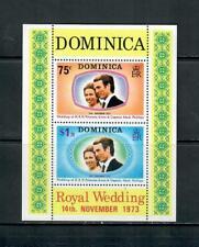 DOMINICA 1973 ROYAL WEDDING MINIATURE SHEET MNH