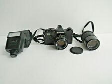 Mamiya Ze Film Camera with Sekor E 1:1.7 f/50mm & 1:3.5 f/135mm Lens & Flash