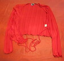 Coprispalle Cache Coeur maglia rosso righe Germano Zama GZ taglia S manica lunga