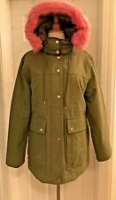J.CREW COLLECTION DOWN PARKA SIZE M WASABI F6993