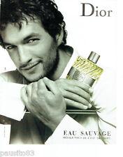 PUBLICITE ADVERTISING 056  2003  Dior  eau de toilette homme Eau Sauvage