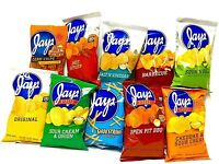 JAY'S Ultimate Original Variety Pack Potato Chips 10 Pack 1.25oz bags