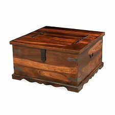 Jodhpur sheesham indian furniture square coffee table storage trunk