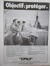 10/80 PUB TRT RADIOCOMMUNICATIONS EMETTEUR RECEPTEUR MARINE NATIONALE FRENCH AD