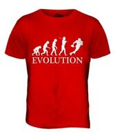 Fútbol Americano Evolution Of Man Parte Superior el Hombre Camiseta Tee Regalo