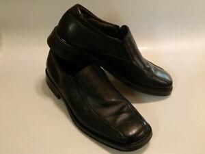 VENTURINI Dorino Mens Loafers Shoes ITALY Luxury Leather Black Sz 10.5M EUC Rare