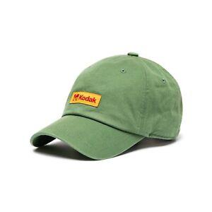 KODAK Film Apparel Plus Box Logo Basic Base Ball Cap Hat Khaki