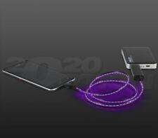 PILOT AUTOMOTIVE MOTION LIGHT UP CHARGING CABLE MICRO USB PURPLE BLACK CABLE