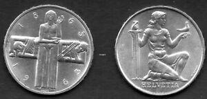 Schweiz  2 X 5 Franken Sondermünzen vz Silber