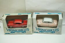VINTAGE ERTL DIECAST TOY CARS VINTAGE VEHICLES 57 BEL AIR 52 CADILLAC  MIB d