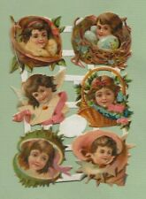 Victorian Die Cut Scraps, Pretty Children   M60